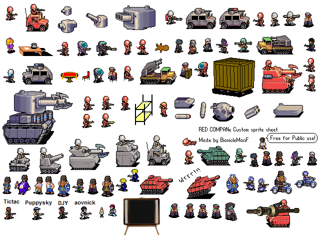 Red Company sprite sheet