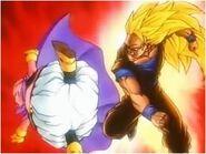 Super Saiyan 3 Goku After Punching Majin Buu