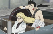 Riza Hawkeye While Driving Ling Yao & The Captured Homunculus