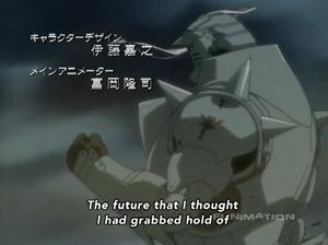 Alphonse Elric During the Season 4 Intro