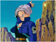 Future Trunks Deflecting an Attack