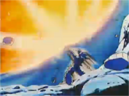Goku Uses the Kamehameha to Deflect Cooler's Attack