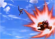 Goku Struggles Against Cooler with the Kaioken