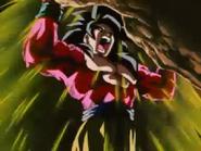 Goku Stopping Naturon Shenron's Earthquake