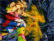 Goku Fights Broly With Vegeta's Power