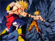 Goku Starts Using Vegeta's Power Against Broly