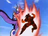 Goku Using the Kaioken Against Cooler