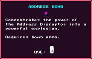 Address Bomb Pickup
