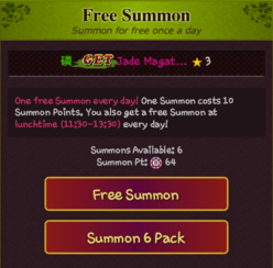 Free Summon 6 Pack