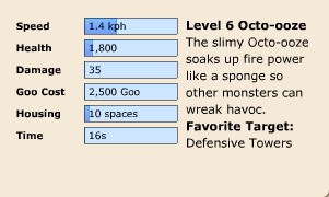 Octo-ooze Stats