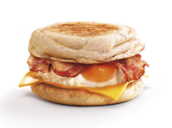 Bacon egg cheese muffin