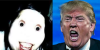 Donald Trump Throws All The Jeff The Killer Ripoffs Over His Wall
