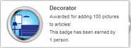 Decorator (earned hover)