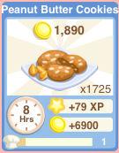 Bakery oven peanutbuttercookies