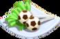 Oven-Soccer Cake Pop plate