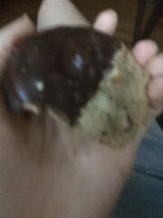 Half dipped cookie