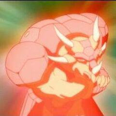 Pyrus Saurus atakujący super mocą