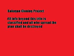 Bakugan Cloning Project warning