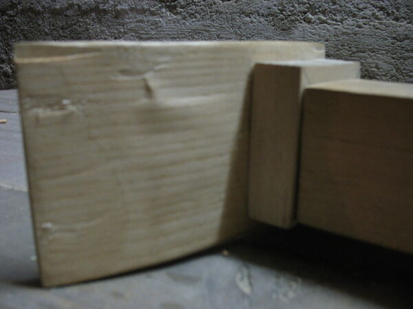 Crescent-shaped piece made from veneers - 03