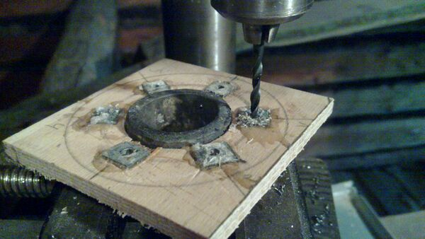 Drilling washer rim holes - 03