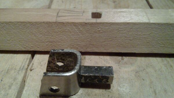 Attaching cheiroballistra fork and tenon to the slider - 02
