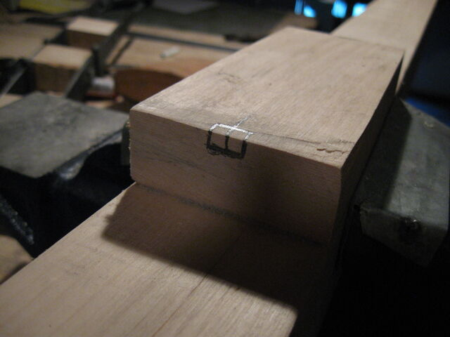 File:Fitting little ladder against the projecting block - 01.jpg