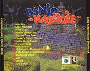 Banjo Kazooie soundtrack backcover