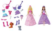 Barbie The Princess and The Popstar Keira and Tori Mini Doll set