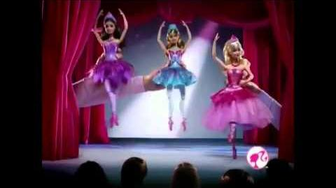 2013 Barbie In The Pink Shoes Kristyn 2 in 1 Transforming Ballerina Dolls Commercial
