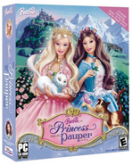 Barbie as the Princess and the Pauper Video Game PC US Cover 1