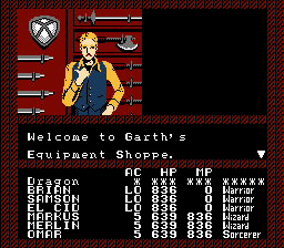 Garth's Equipment Shoppe