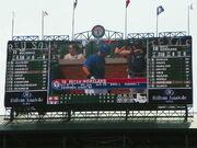 Rangers Ballpark Scoreboard