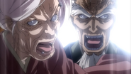 Ogen and Danjou ordering their men to stop fighting