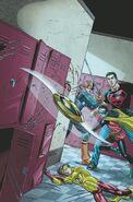 Robin Damian Wayne and Teen Titans