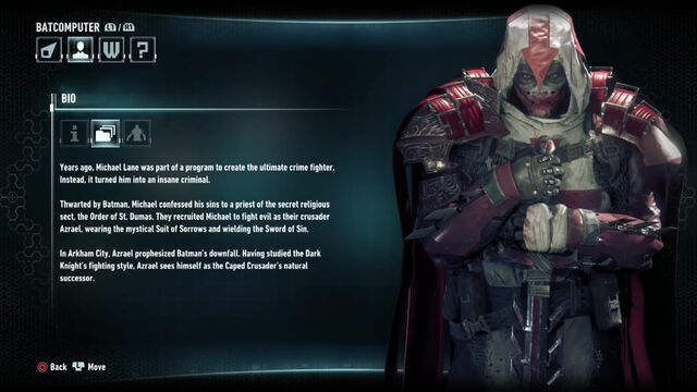File:Batman Arkham Knight Character Bios Azrael.jpg