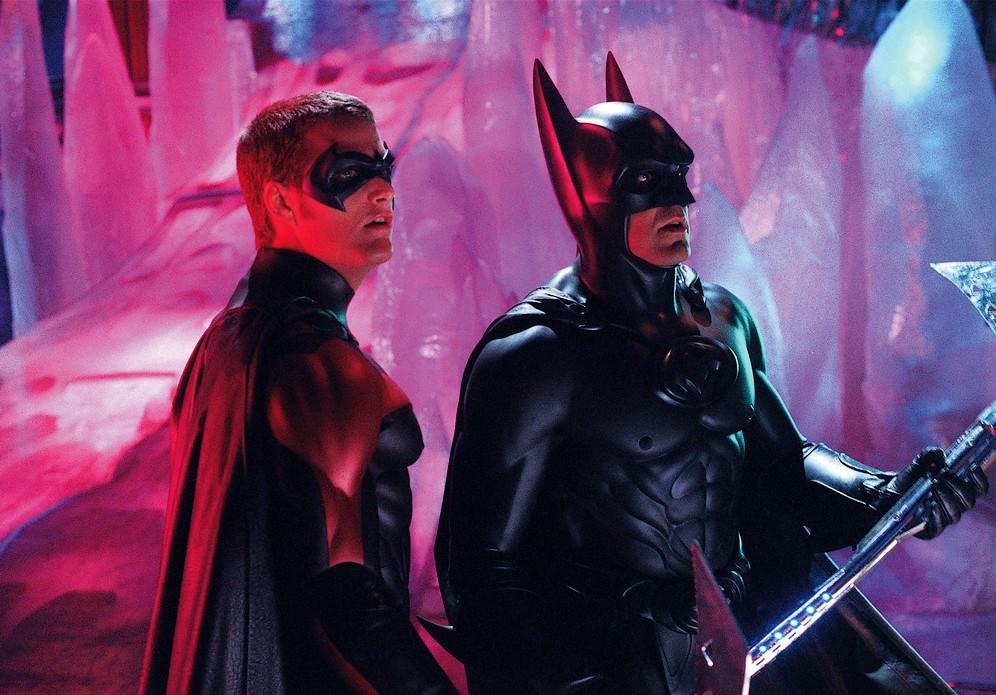 Risultati immagini per batman george clooney behind thescenes