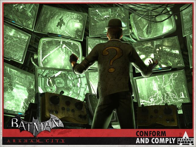 File:Batman- Arkham City Riddler Wallpaper.jpg