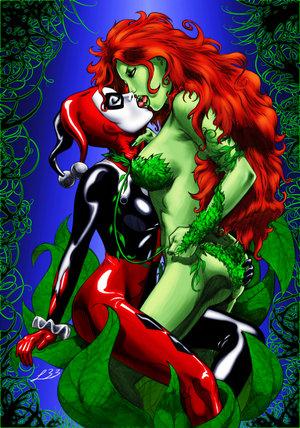 File:0000000Harley Quinn kising Poison Ivy by.jpg