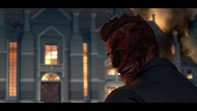 File:Two-Face burns Wayne Manor.jpg