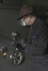 Batman (1989) - Napier Hood with Black Pinstripe Suit