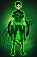 Green lantern robin by kalel7-d42hrfo