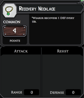 Recovery Necklace profile