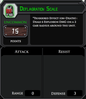 Deflagration Scale profile