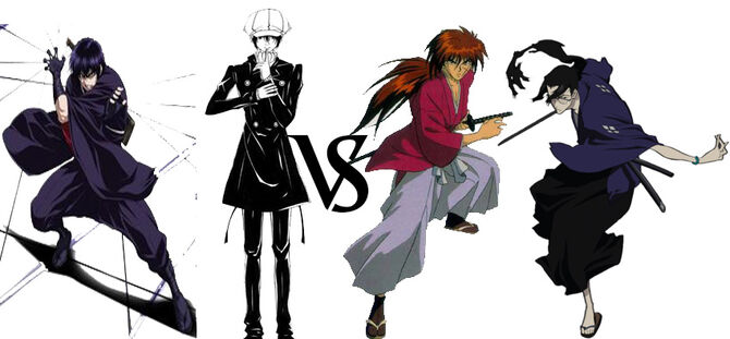 Yashamaru and Yoite vs. Kenshin and Jin