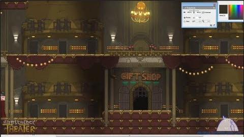 BattleBlock Theater's Lobby Decor