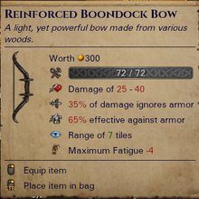 Reinforced Boondock Bow