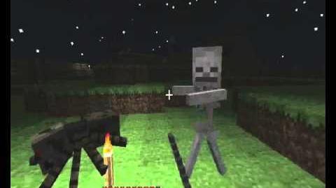 Minecraft Spider vs Skeleton