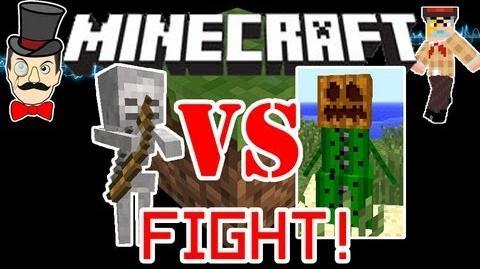 Minecraft 1.0 CACTUS GOLEMS vs SKELETONS Mob Battle ! War of Ranged Mobs !