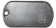 Rank 25 Dog Tag