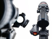 Canted red dot sight